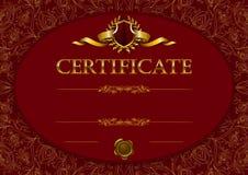 Plantilla elegante del certificado, diploma ilustración del vector