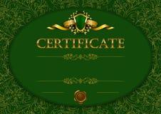Plantilla elegante del certificado, diploma stock de ilustración