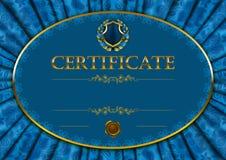 Plantilla elegante del certificado, diploma Fotografía de archivo libre de regalías