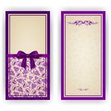 Plantilla elegante del vector para la invitación de lujo, Imágenes de archivo libres de regalías