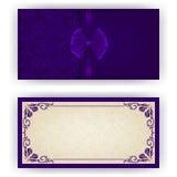 Plantilla elegante del vector para la invitación de lujo Imagen de archivo libre de regalías