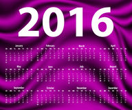 Plantilla elegante para el calendario 2016 Imagen de archivo libre de regalías
