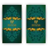 Plantilla elegante para la invitación del lujo del vip Imagenes de archivo