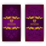 Plantilla elegante para la invitación del lujo del vip Fotos de archivo libres de regalías