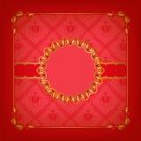 Plantilla elegante para la invitación del lujo del vip Imágenes de archivo libres de regalías