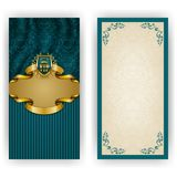 Plantilla elegante para la invitación del lujo del vip Foto de archivo libre de regalías