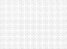 Plantilla en blanco con los pedazos caprichoso formados, horizontales, 11 a 8 ratios del rompecabezas Imagen de archivo libre de regalías