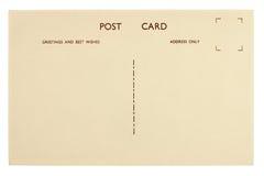 Plantilla en blanco de la postal del vintage imágenes de archivo libres de regalías