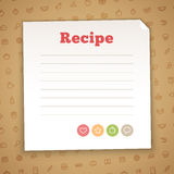 Plantilla en blanco de la tarjeta de la receta Foto de archivo
