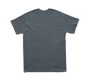 Plantilla en blanco de los grises carbones del color de la camiseta Fotografía de archivo