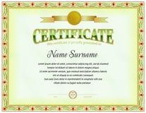 Plantilla en blanco del certificado Elementos poligonales Formas del diseño simple Foto de archivo libre de regalías