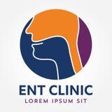 Plantilla ENT del logotipo Vaya al oído, nariz, especialistas del doctor de la garganta Logo Concept línea icono del vector Movim Imágenes de archivo libres de regalías