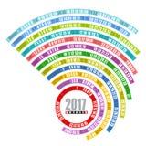 plantilla espiral de 2017 calendarios Fotografía de archivo