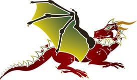 Plantilla europea tradicional del dragón Foto de archivo