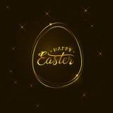 Plantilla feliz de la tarjeta de felicitación de Pascua del vector libre illustration