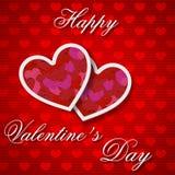 Plantilla feliz de la tarjeta de felicitación del día de tarjetas del día de San Valentín Fotos de archivo