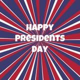 Plantilla feliz del fondo de presidentes Day stock de ilustración