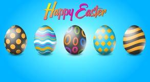 Plantilla feliz del fondo del huevo de Pascua Puede ser utilizado para la tarjeta de felicitaci?n, folleto, anuncio, papel pintad libre illustration