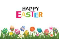 Plantilla feliz del fondo del huevo de Pascua Se puede utilizar para el Ca el saludo