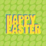 Plantilla feliz del vector de Pascua Foto de archivo libre de regalías