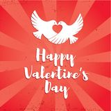 Plantilla feliz del vector del día de tarjeta del día de San Valentín Imagenes de archivo