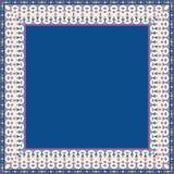 Plantilla floral árabe tradicional de la tarjeta de felicitación con el modelo árabe Imagen de archivo libre de regalías