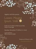 Plantilla floral de la tarjeta de la invitación de la boda Imagen de archivo libre de regalías