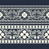 Plantilla florish del este de la frontera del vector diseñe para las cubiertas, impresión, bloque de madera, tarjetas stock de ilustración