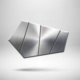 Plantilla geométrica abstracta del botón Foto de archivo libre de regalías