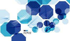 Plantilla geométrica azul brillante del diseño moderno stock de ilustración