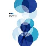 Plantilla geométrica azul brillante del diseño moderno libre illustration