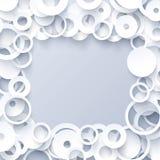 Plantilla geométrica blanca Fotografía de archivo libre de regalías