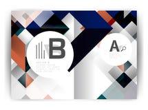 Plantilla geométrica de la impresión de la cubierta del informe anual a4 ilustración del vector
