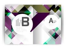 Plantilla geométrica de la impresión de la cubierta del informe anual a4 Fotos de archivo libres de regalías