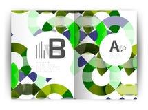 Plantilla geométrica de la impresión de la cubierta del informe anual a4 Imagen de archivo