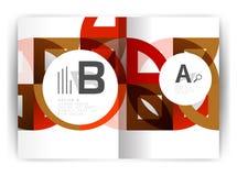 Plantilla geométrica de la impresión de la cubierta del informe anual a4 Fotografía de archivo libre de regalías