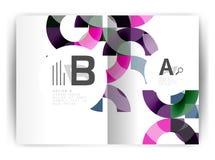 Plantilla geométrica de la impresión de la cubierta del informe anual a4 Fotografía de archivo