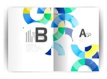 Plantilla geométrica de la impresión de la cubierta del informe anual a4 Foto de archivo