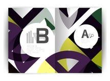 Plantilla geométrica de la impresión de la cubierta del informe anual a4 Imagen de archivo libre de regalías