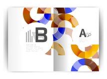 Plantilla geométrica de la impresión de la cubierta del informe anual a4 Imágenes de archivo libres de regalías