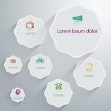 Plantilla geométrica del diseño gráfico de la información Imagen de archivo libre de regalías