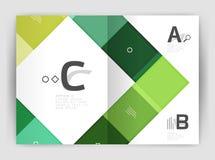 Plantilla geométrica del negocio del folleto a4 Imagen de archivo