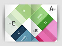 Plantilla geométrica del negocio del folleto a4 Fotografía de archivo