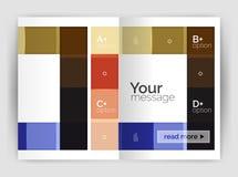 Plantilla geométrica del negocio del folleto a4 Imágenes de archivo libres de regalías