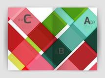 Plantilla geométrica del negocio del folleto a4 Imagen de archivo libre de regalías