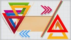 Plantilla geométrica moderna. Fotografía de archivo libre de regalías