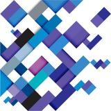 Plantilla geométrica moderna azul abstracta, ejemplo Foto de archivo libre de regalías