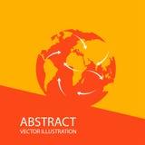 Plantilla global del diseño del logotipo del vector de la red del extracto del planeta de la tierra Fotos de archivo libres de regalías