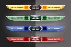 Plantilla gráfica de la pantalla de Digitaces del marcador para difundir de s Foto de archivo