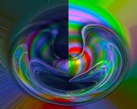 Plantilla gráfica del rizo de la imaginación de la energía del fractal de las ilustraciones del contexto futurista abstracto de l libre illustration